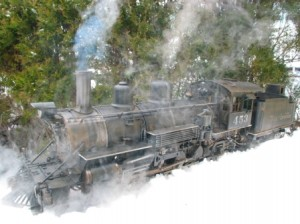 TRS representation of a K27 in service running along the many narrow gauge lines in the Rockies