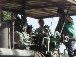 Learning to drive and operate a steam tractor